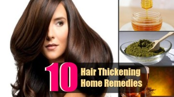 10 Hair Thickening Home Remedies