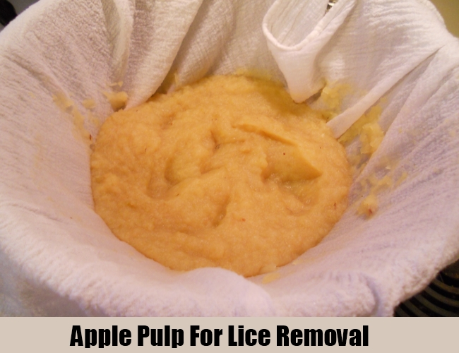 Apple Pulp For Lice Removal