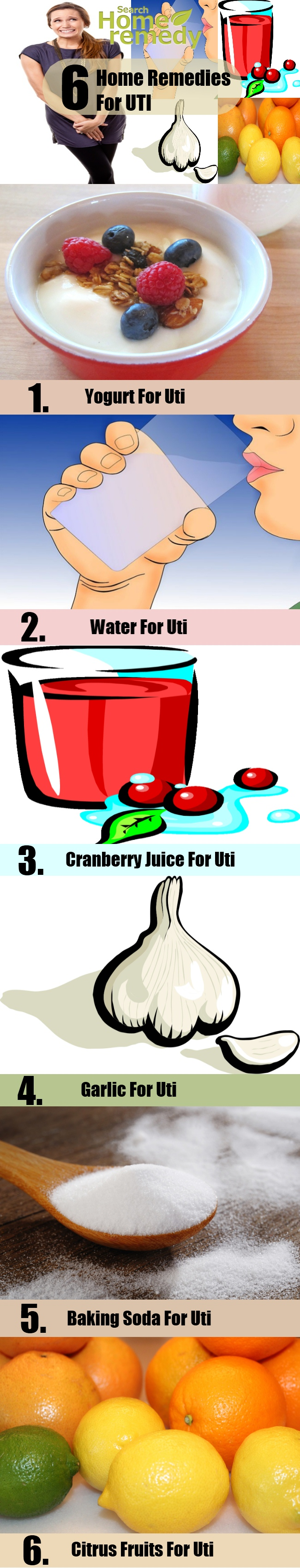 6 Home Remedies For UTI