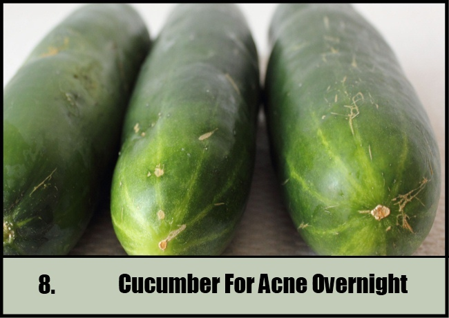 Cucumber For Acne Overnight