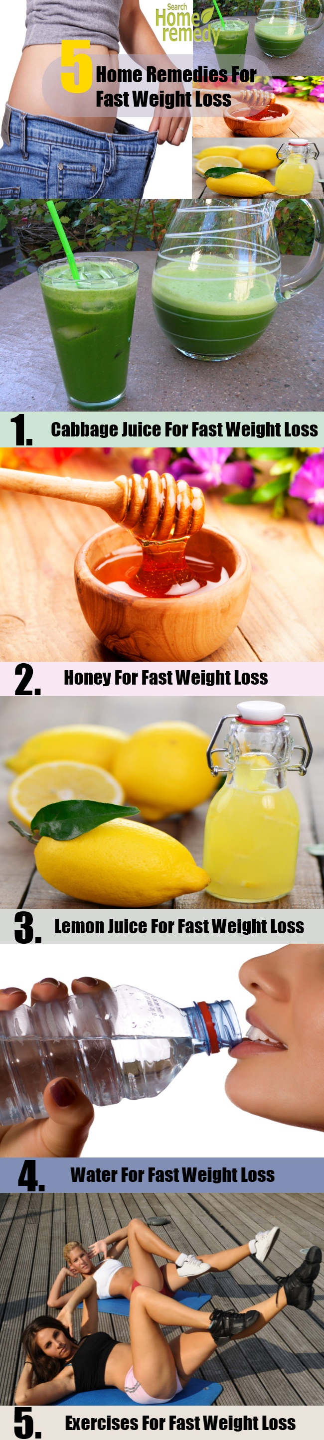 5 Home Remedies For Fast Weight Loss