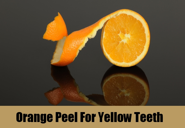 Orange Peel For Yellow Teeth