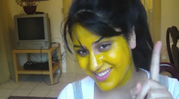Glowing, Flawless Skin Using Turmeric Mask