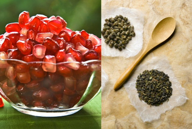 Pomegranate & Green Tea Facial Mask for Dull Skin